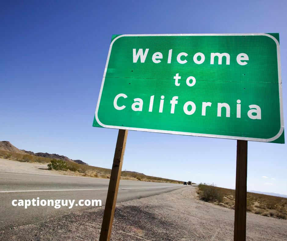 California Instagram Captions